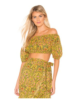 Juliet Dunn botanical puff mini top