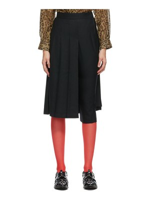 Junya Watanabe black pleated skirt trousers