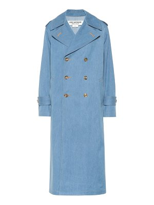Junya Watanabe denim double-breasted coat