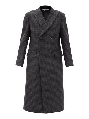 Junya Watanabe double-breasted check wool coat