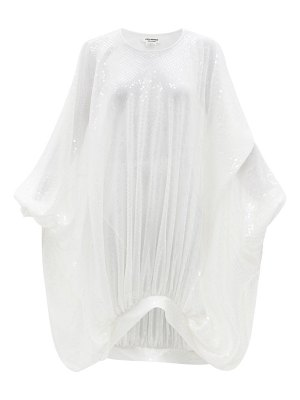 Junya Watanabe draped sequin-embellished voile dress