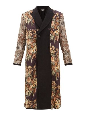 Junya Watanabe reversible printed silk and wool coat