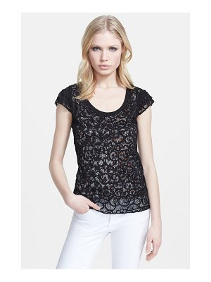 Just Cavalli leopard lined lace top