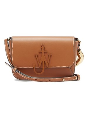 J.W.ANDERSON anchor-logo chain leather cross-body bag