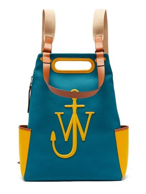 J.W.ANDERSON anchor logo-embroidered canvas backpack