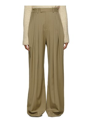 J.W.ANDERSON beige high-waisted wool trousers