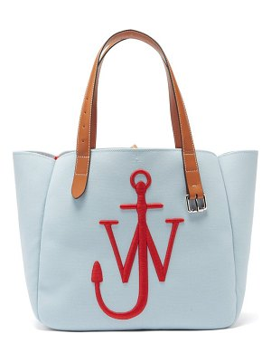 J.W.ANDERSON belt embroidered-anchor canvas tote bag