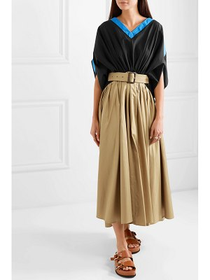 J.W.ANDERSON belted cotton-poplin maxi dress