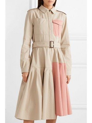 J.W.ANDERSON belted paneled cotton-drill dress