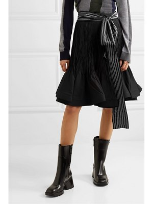 J.W.ANDERSON belted pleated cotton-blend midi skirt