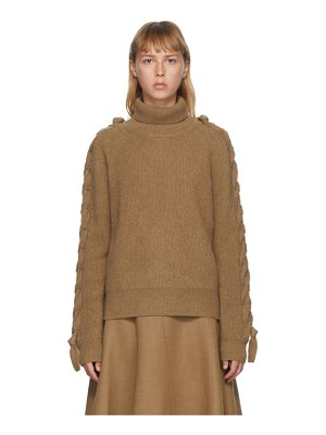 J.W.ANDERSON cable insert turtleneck