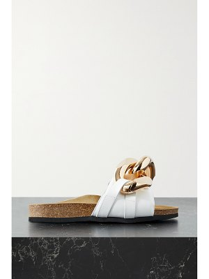 J.W.ANDERSON chain-embellished leather slides