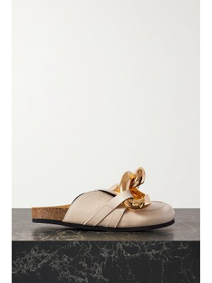 J.W.ANDERSON chain-embellished leather slippers