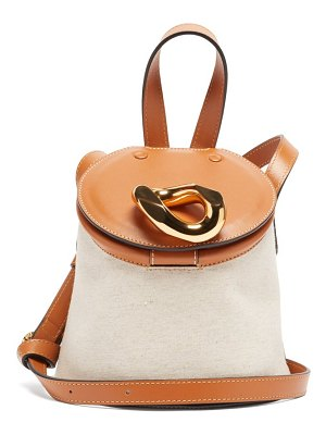 J.W.ANDERSON chain small leather and canvas cross-body bag