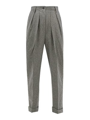 J.W.ANDERSON checked wool-blend trousers