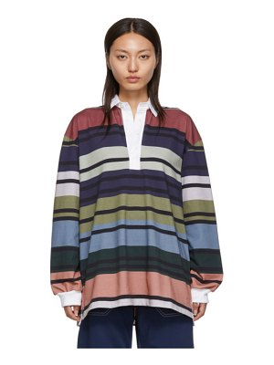 J.W.ANDERSON color striped rugby polo