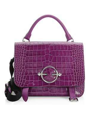 J.W.ANDERSON Croc-Embossed Leather Satchel