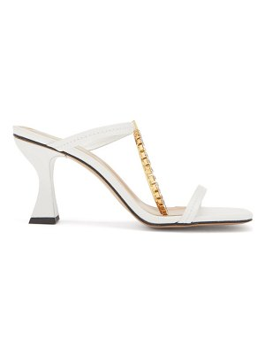 J.W.ANDERSON crystal-embellished square-toe leather sandals