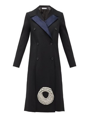 J.W.ANDERSON crystal-embellished wool-twill coat