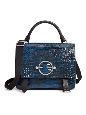 J.W.ANDERSON disc embossed leather satchel