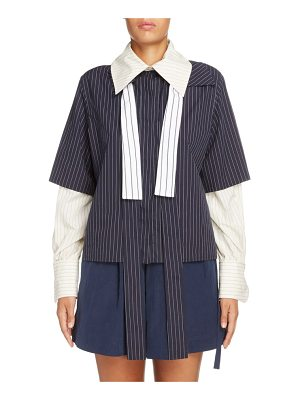 J.W.ANDERSON double layer tie neck blouse