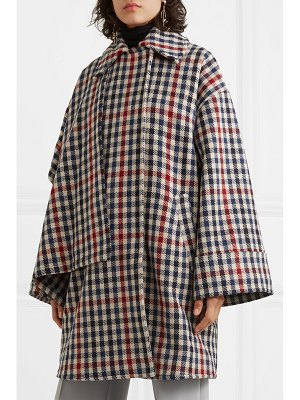 J.W.ANDERSON draped checked wool-blend coat