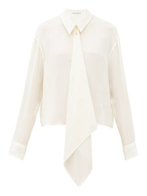 J.W.ANDERSON draped front silk blouse