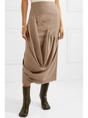 J.W.ANDERSON draped wool midi skirt