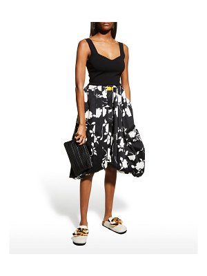 J.W.ANDERSON Floral-Printed Belted Balloon Skirt