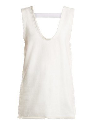 J.W.ANDERSON frayed edge cotton jersey top