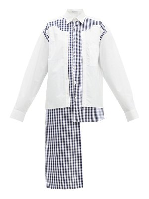 J.W.ANDERSON gingham panelled cotton shirt