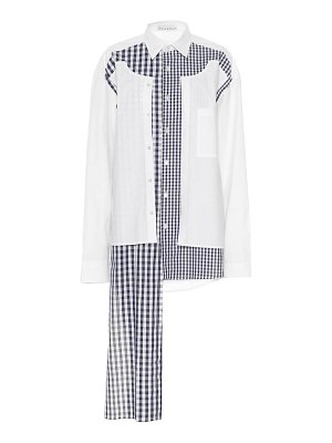 J.W.ANDERSON gingham patchwork shirt