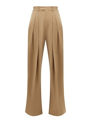 J.W.ANDERSON high rise wool twill wide leg trousers
