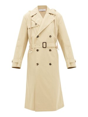 J.W.ANDERSON hooded cotton-gabardine trench coat