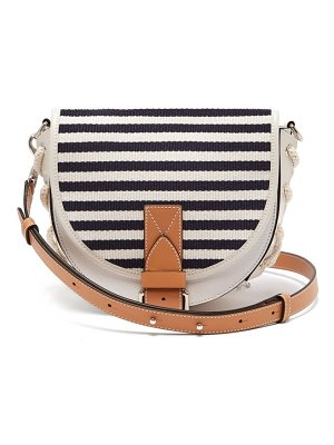 J.W.ANDERSON bike breton stripe leather cross body bag