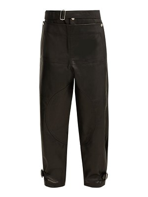 J.W.ANDERSON fold front leather trousers