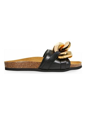 J.W.ANDERSON Leather Chain Slide Sandals