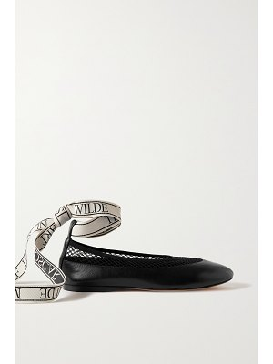J.W.ANDERSON leather, mesh and canvas ballet flats
