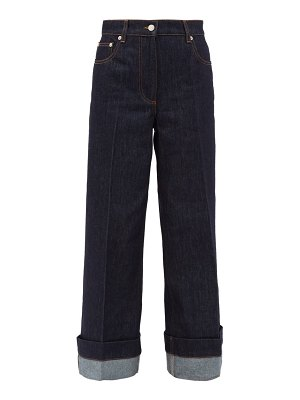 J.W.ANDERSON logo-embroidered wide-leg jeans