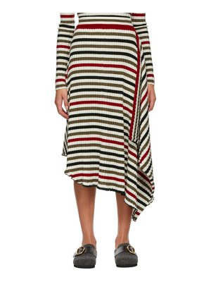 J.W.ANDERSON multicolor striped rib infinity skirt