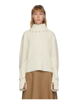 J.W.ANDERSON off-white pearl turtleneck