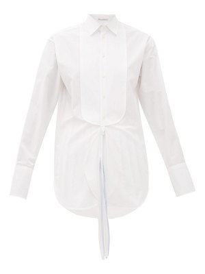J.W.ANDERSON oversized cotton tuxedo shirt
