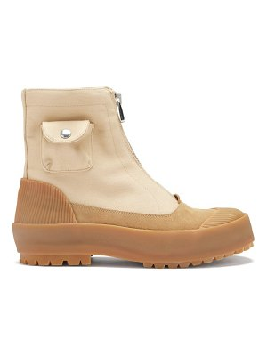 J.W.ANDERSON zipped cotton-canvas boots