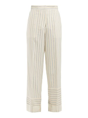 J.W.ANDERSON patchwork-striped wide-leg trousers