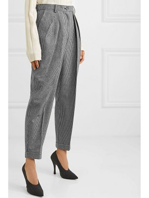J.W.ANDERSON pleated houndstooth wool-blend tapered pants