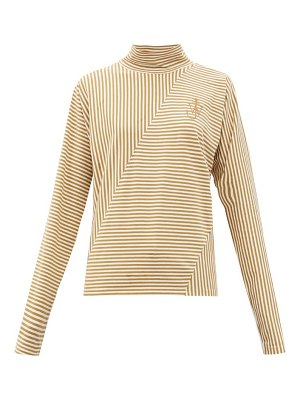 J.W.ANDERSON roll-neck striped cotton-blend top