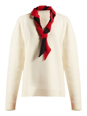 J.W.ANDERSON scarf trimmed wool blend sweater
