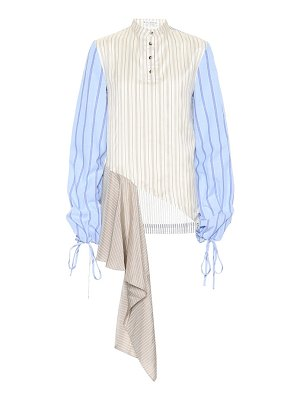J.W.ANDERSON Striped cotton and silk shirt