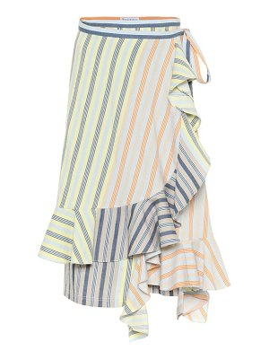 J.W.ANDERSON striped cotton midi skirt