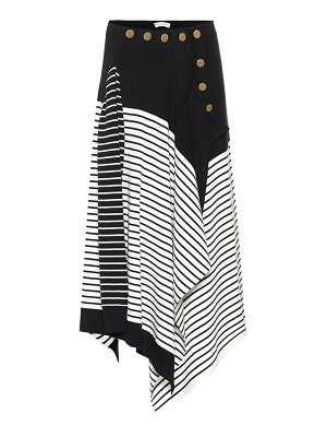 J.W.ANDERSON striped wool-blend skirt